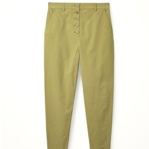 COS Button Up Chino Pants Green